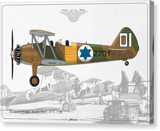 Israeli Air Force Stearman Kaydet Pt-13 Canvas Print