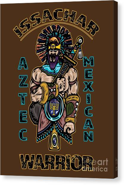 Issachar Aztec Warrior Canvas Print