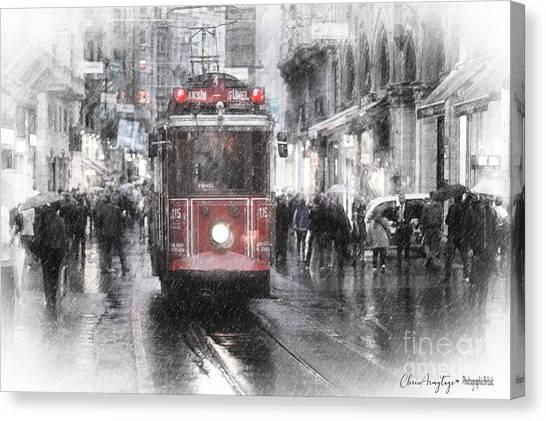 Istambool Historic Tram Canvas Print