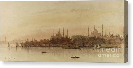 Muslim Canvas Print - Istanbul by Alfred de Courville