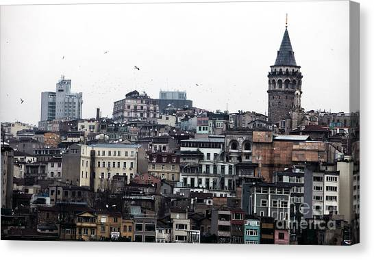 Istanbul Buildings Canvas Print by John Rizzuto