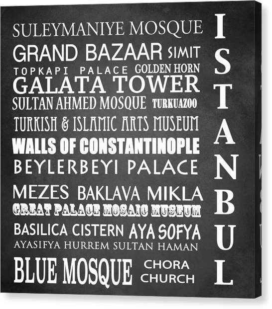 Suleymaniye Canvas Print - Istanbul Famous Landmarks by Patricia Lintner