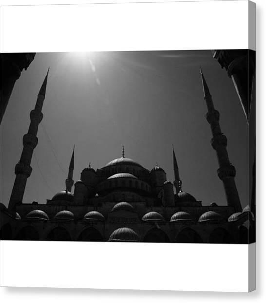 Turkish Canvas Print - #istanbul #mosque  #bayram #kurban by Ozan Goren