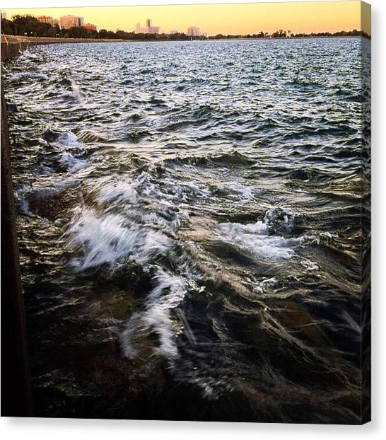Lake Michigan Canvas Print - It Is Easier To Be Wiser For Others Than For Ourselves by Nick Heap