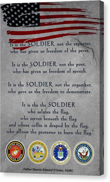 It Is The Soldier Canvas Print