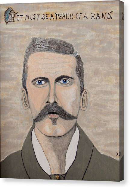 It Must Be A Peach Of A Hand. Doc Holliday. Canvas Print