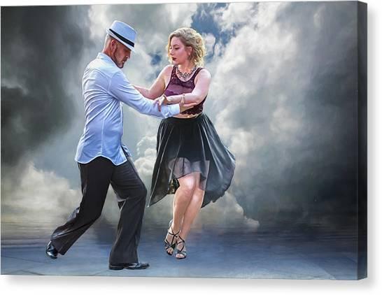 It Takes Two To Tango Canvas Print by John Haldane