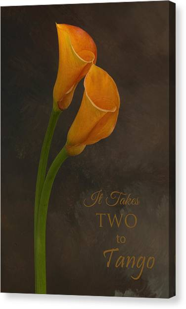 It Takes Two To Tango With Message Canvas Print