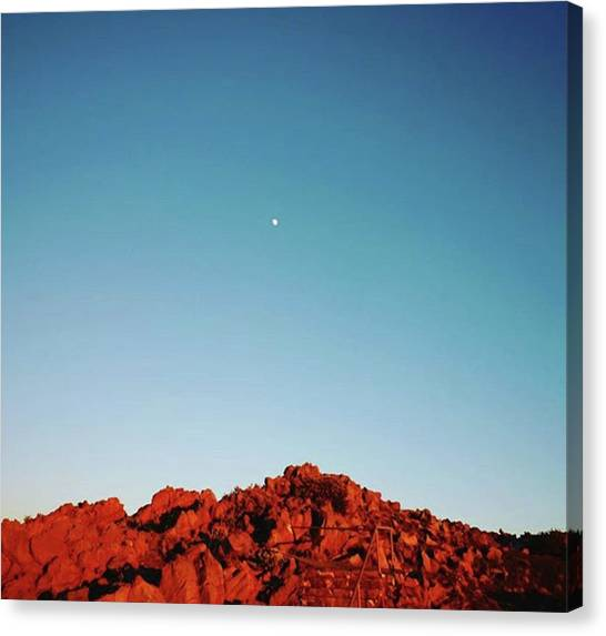 Red Rock Canvas Print - It Tells Us The Night Is by Sunny White