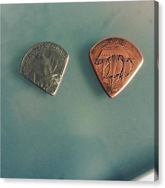 Guitar Picks Canvas Print - It Was Hard Work But I Made My Own by Alessandro Conte
