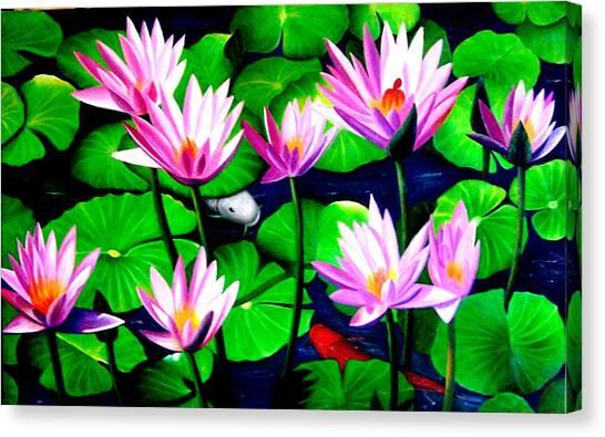 It Was Just Like A Lotus Flower Unfolding  Canvas Print by Yuki Othsuka