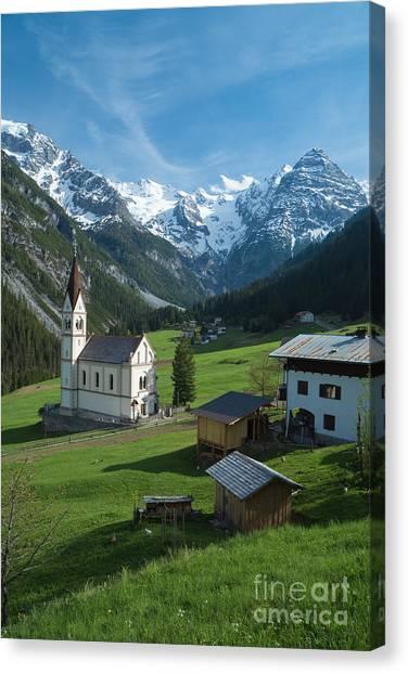 Italian Alps Hidden Treasure Canvas Print