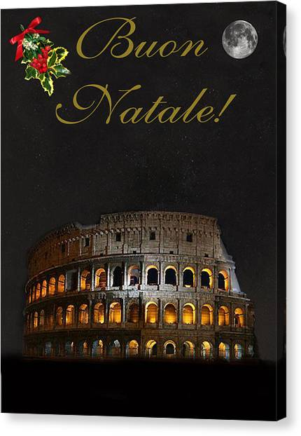 Italian Christmas Card Rome Canvas Print