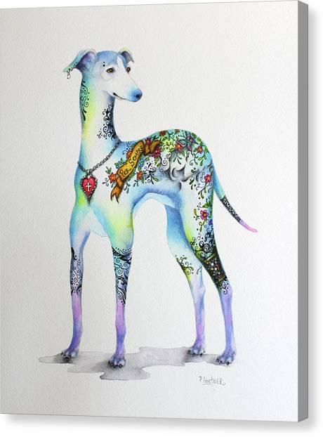Italian Greyhound Tattoo Dog Canvas Print