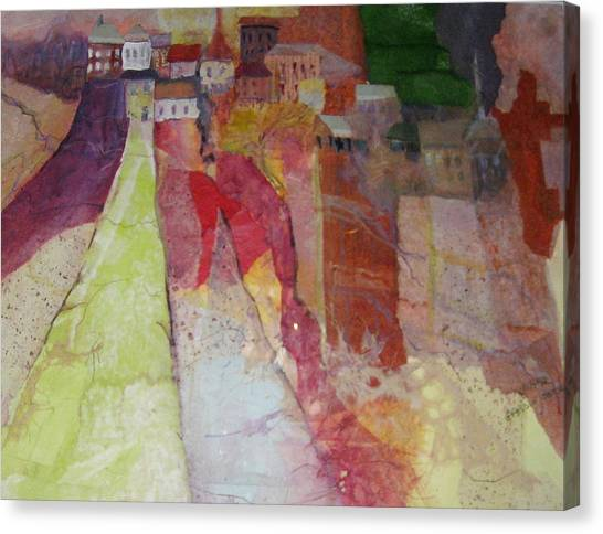 Italian Hill Town Canvas Print