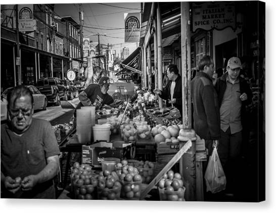 Italian Market Canvas Print by Robert Davis