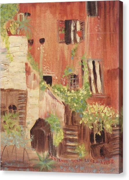 Italian Scene Canvas Print by Suzanne  Marie Leclair