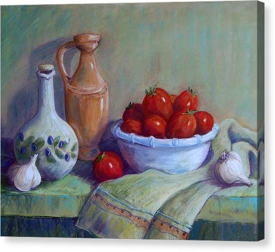 Italian Still Life Canvas Print by Candy Mayer
