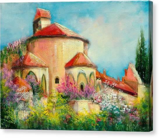 Italian Villa Canvas Print by Sally Seago