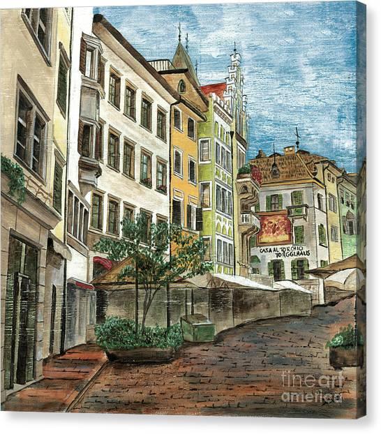 Street Scenes Canvas Print - Italian Village 1 by Debbie DeWitt