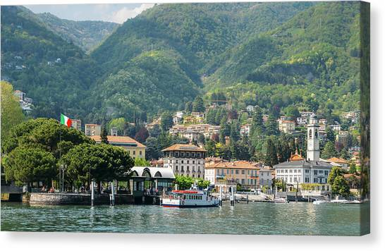Italian Village On Lake Como Canvas Print