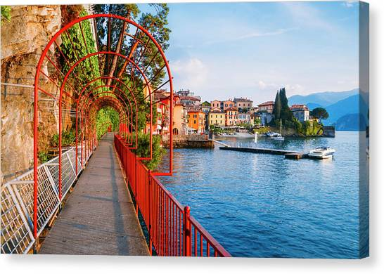 Italian Walk Of Love  Canvas Print
