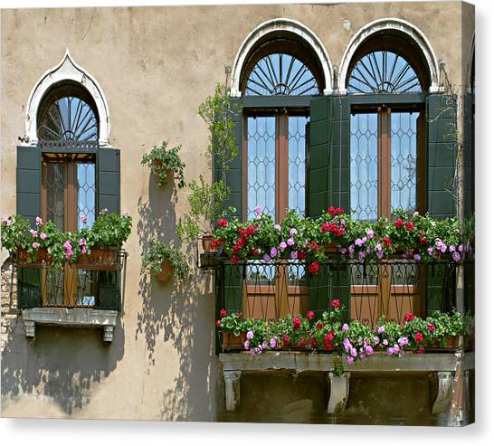 Italian Windows Canvas Print by Julie Geiss
