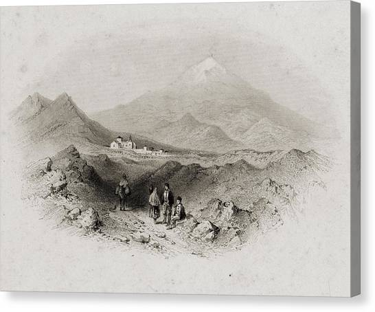 Mount Etna Canvas Print - Italy Nicolosi And Mount Etna by Vintage Design Pics