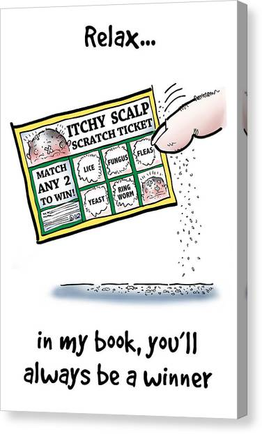 Itchy Scalp Scratch Ticket Canvas Print