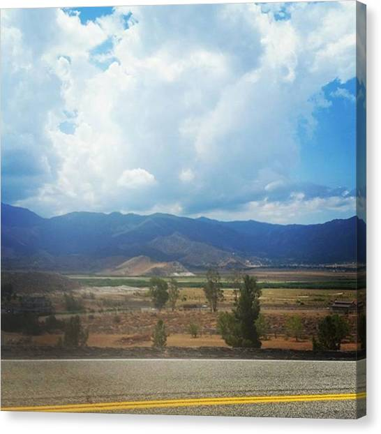 Big Sky Canvas Print - Beautiful Day In The Neighborhood by Ashley Loza