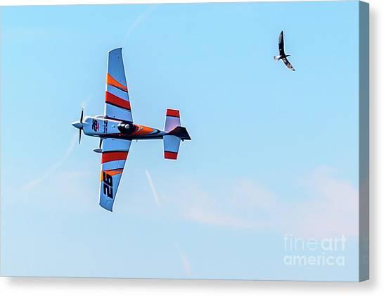 It's A Bird And A Plane, Red Bull Air Show, Rovinj, Croatia Canvas Print