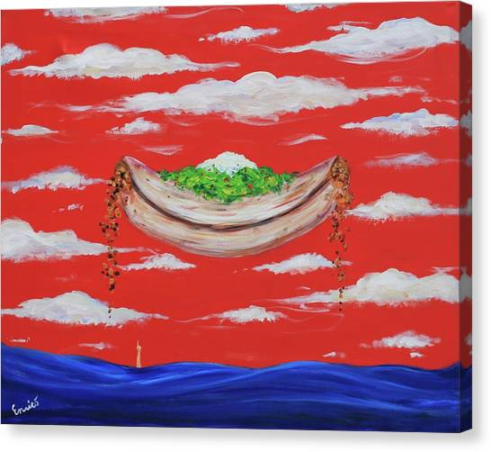 It's A Happy Enchilada And You Think You're Gonna Drown Canvas Print