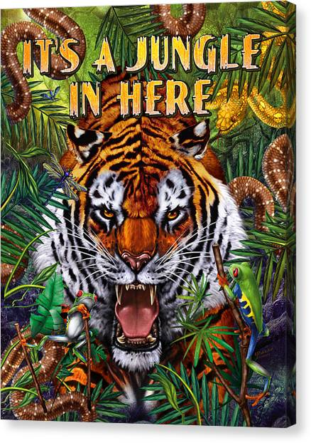 Bengal Tiger Canvas Print - It's A Jungle  by JQ Licensing