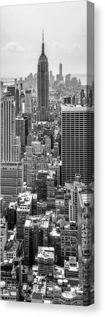 Empire State Building Canvas Print - It's A Jungle Out There by Az Jackson
