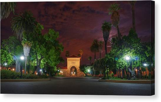 It's A Red Sky Night, Breathe It In Canvas Print
