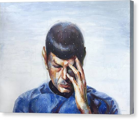 Spock Canvas Print - It's All Too Much by Kurt Riemersma