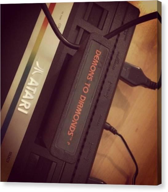 Atari Canvas Print - It's Been A While... #atari #console by Nam K