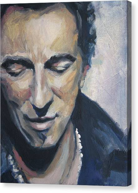 Bruce Springsteen Canvas Print - It's Boss Time II - Bruce Springsteen Portrait by Khairzul MG
