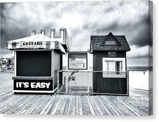 It Professional Canvas Print - It's Easy On The Seaside Heights Boardwalk by John Rizzuto