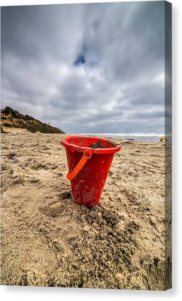 Sand Castles Canvas Print - Its Good You Went To The Beach You Look A Little Pail by Peter Tellone