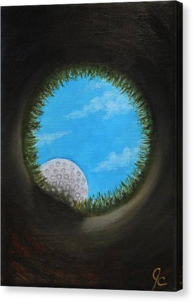 Hole In One Canvas Print - It's In The Hole by Jimmy Carender