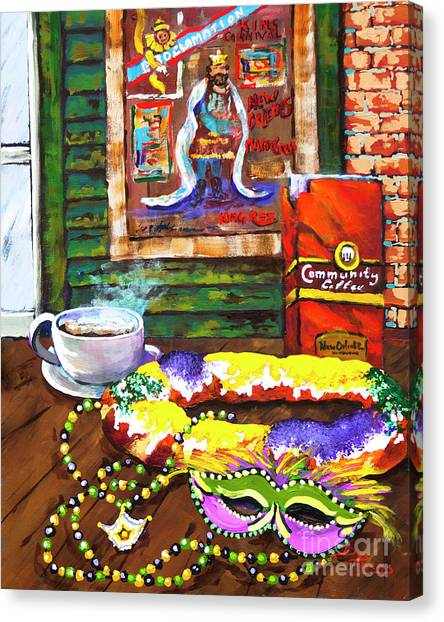 It's Mardi Gras Time Canvas Print