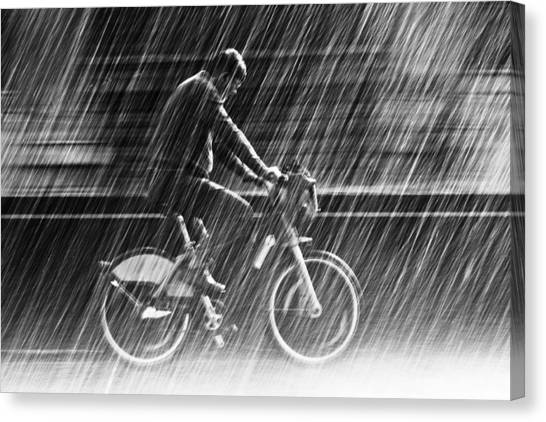 Street Canvas Print - It's Raining Cats And Dogs by Christian Muller