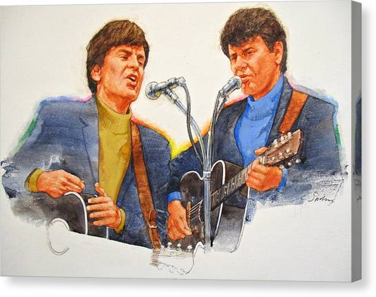 Its Rock And Roll 4  - Everly Brothers Canvas Print
