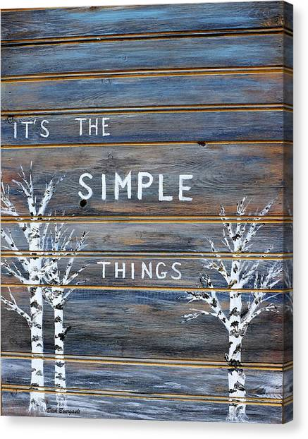 It's The Simple Things Canvas Print