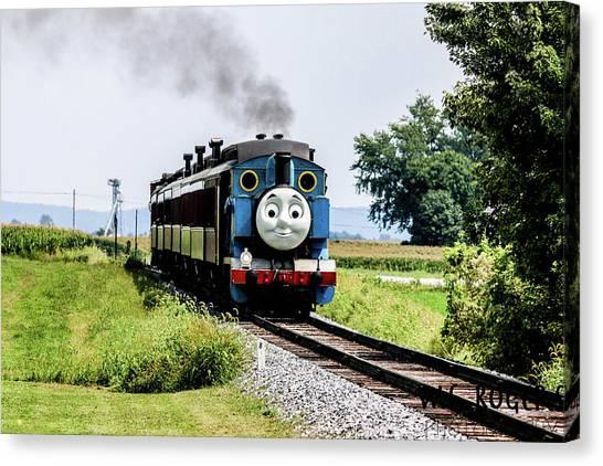 Thomas The Train Canvas Print - Its Thomas by William Rogers