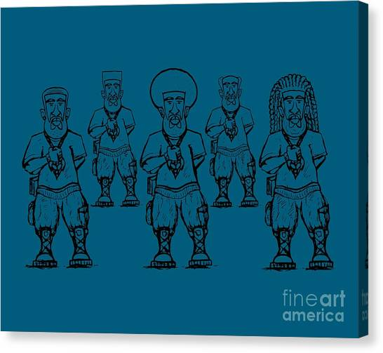 Iuic Soldier 1 W/outline Canvas Print