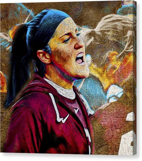 Soccer Leagues Canvas Print - @iupui @iupuiwsoc #iupuimenssoccer by David Haskett II