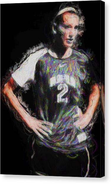 Indiana University Iu Canvas Print - Iupui Jaguars Soccer Athlete Mhock by David Haskett II