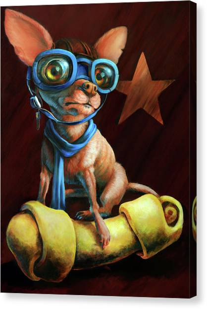 Chihuahuas Canvas Print - I've Got Mine by Vanessa Bates
